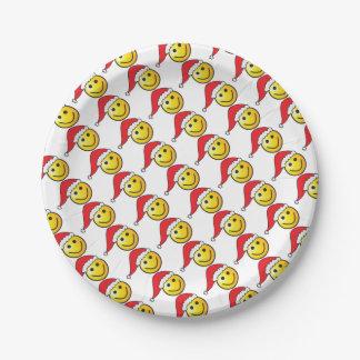 Het grappige Patroon van het Pet van de Kerstman Papieren Bordje