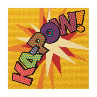 Het grappige Pop-art Ka-POW van het Boek Hout Afdruk
