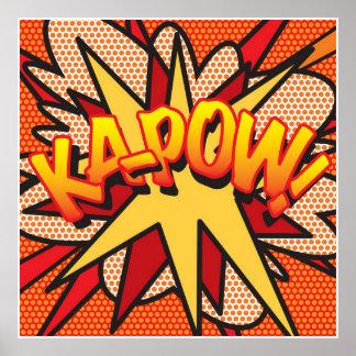 Het grappige Pop-art Ka-POW van het Boek! Poster