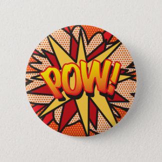 Het grappige Pop-art POW van het Boek! Ronde Button 5,7 Cm