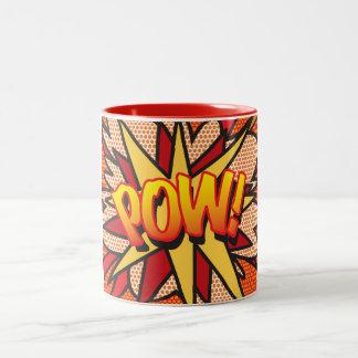 Het grappige Pop-art POW van het Boek! Tweekleurige Koffiemok