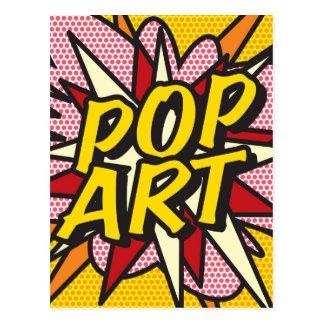 Het grappige POP-ART van het Boek Briefkaart
