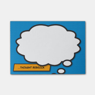 Het grappige Pop-art van het Boek denkt Bel Post-it® Notes