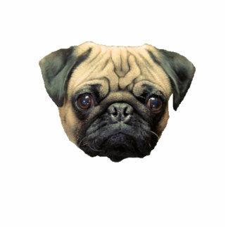 Het grappige Pug Beeldhouwwerk Keychain van de Fot fotobeeldjes