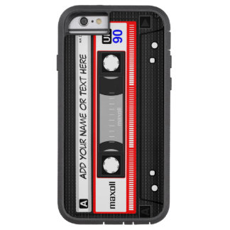 Het grappige Retro Patroon van de Band van de Tough Xtreme iPhone 6 Hoesje