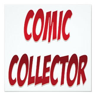 Het grappige Rood van de Collector 13,3x13,3 Vierkante Uitnodiging Kaart