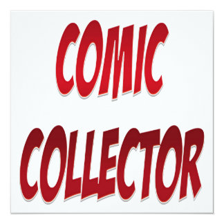 Het grappige Rood van de Collector Custom Uitnodging
