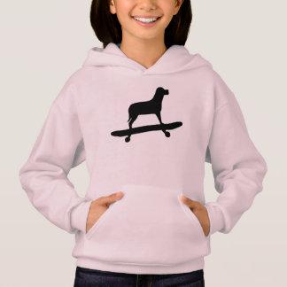 Het grappige Skateboard Hoodie van de Hond voor