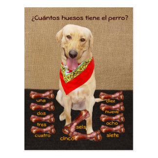 Het grappige Spaanse Briefkaart van het Huisdier &