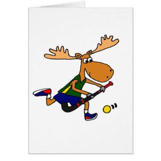 Het grappige SpeelHockey van Amerikaanse elanden Kaart