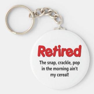 Het grappige Spreuk van de Pensionering Basic Ronde Button Sleutelhanger