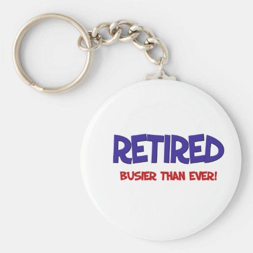Het grappige Spreuk van de Pensionering Sleutelhangers