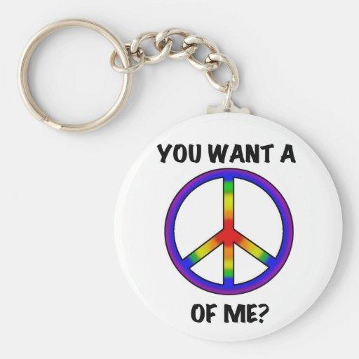 Het grappige Spreuk van de Regenboog van de Humor  Sleutel Hangers