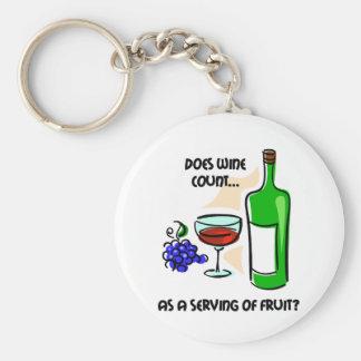 Het grappige spreuk van de wijnhumor basic ronde button sleutelhanger