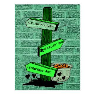 Het grappige St. Patrick PostBriefkaart van het Briefkaart