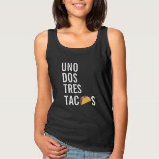 Het grappige Uno Overhemd van de Taco van Dos Tres Tanktop