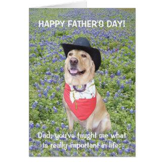 Het grappige Vaderdag van Texas Kaart
