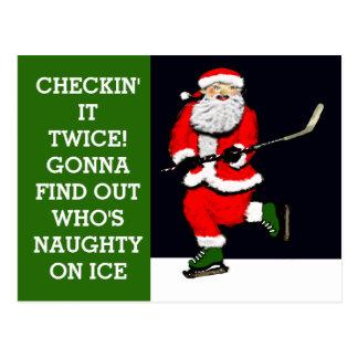 Het grappige Vakantie van het Hockey Briefkaart