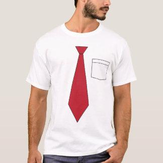 Het grappige Valse Rode Overhemd van de Stropdas T Shirt