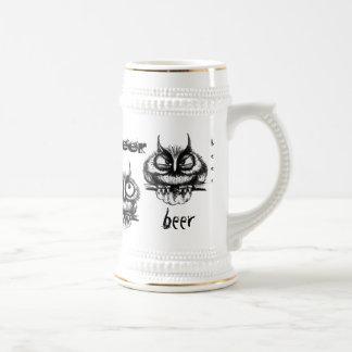 Het grappige van de de inkttekening van de bierpul
