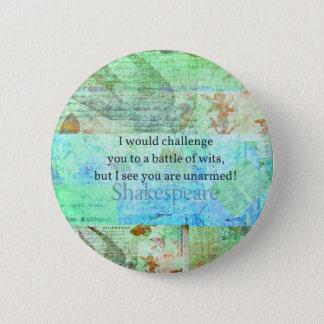 Het grappige van het de beledigingscitaat van ronde button 5,7 cm