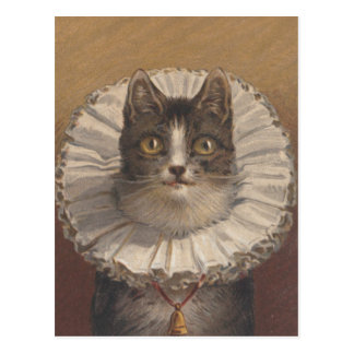 Het grappige Vintage Briefkaart van de Kat