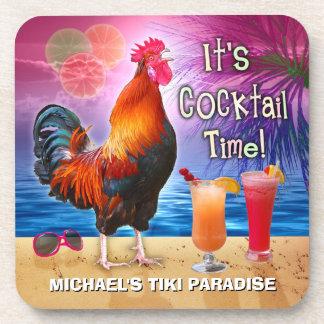 Het grappige Zee van het Strand van de Cocktails Drankjes Onderzetter