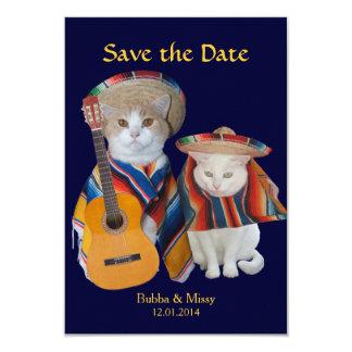 Het grappige Zuiden van Katten van het Huwelijk 8,9x12,7 Uitnodiging Kaart
