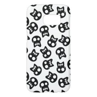 Het grappige zwarte patroon van de Schedel Samsung Galaxy S7 Hoesje