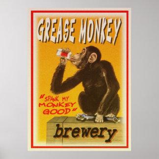 het grese poster van de aapbrouwerij