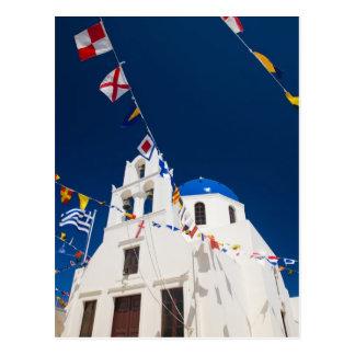 Het Griekse Eiland van Griekenland en van stad Briefkaart