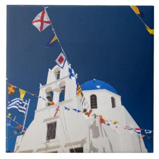 Het Griekse Eiland van Griekenland en van stad San Keramisch Tegeltje