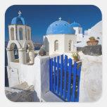 Het Griekse Eiland van Griekenland en van stad Vierkant Stickers