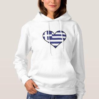 Het Griekse Hart van de Vlag Hoodie