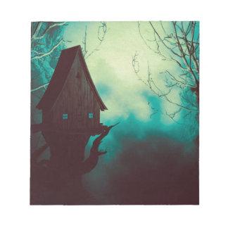 Het griezelige Huis van de Heks in Mist 2 Notitieblok