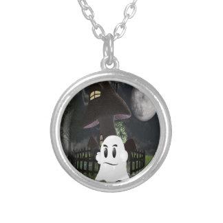 Het griezelige spook van Halloween Zilver Vergulden Ketting