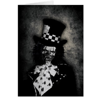 Het griezelige Wenskaart van de Clown