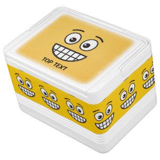 Het grijnzen Gezicht met Open Ogen Igloo Koelbox