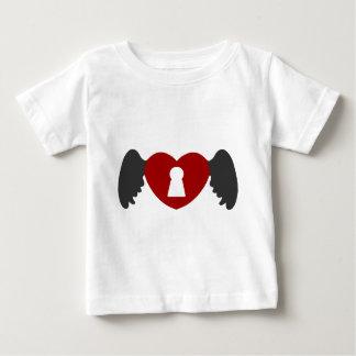 Het grijs-Rood van de Vleugel van het Hart van het Baby T Shirts