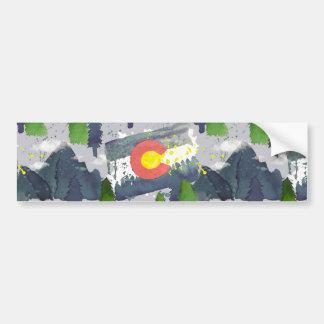 Het Grijs van Colorado van de waterverf Bumpersticker