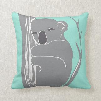 Het Grijs van de Koala van de slaap en het Sierkussen
