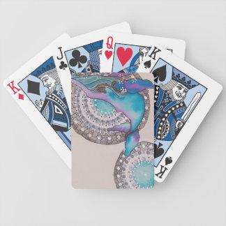 Het grijs van de walvis bicycle speelkaarten
