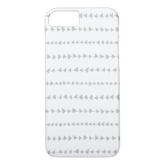 Het grijs-witte Azteekse Patroon van Pijlen iPhone 7 Hoesje
