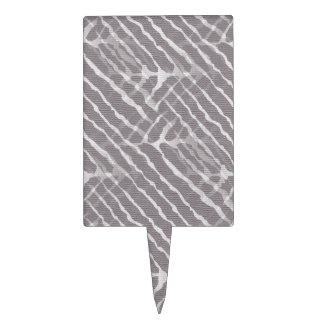 Het grijze Canvas van de Strepen van de Tijger Cake Topper
