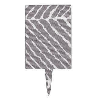 Het grijze Canvas van de Strepen van de Tijger Taart Prikker