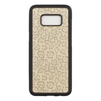 Het grijze Dier van de Kat van de Luipaard van de Carved Samsung Galaxy S8 Hoesje