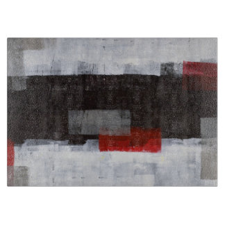 Het Grijze en Rode Abstracte Art. van de macht Snijplank