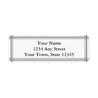 Het grijze en Witte Etiket van het Adres van de