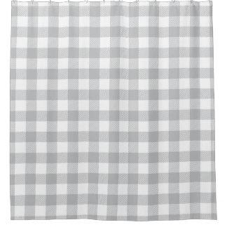 Het grijze Geruite Patroon van de Plaid van Douchegordijn