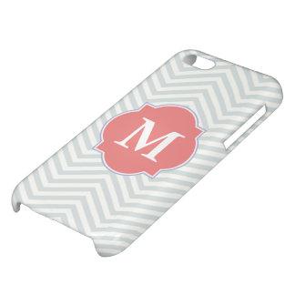 Het grijze & Lichte Monogram van de Douane van de  iPhone 5C Case